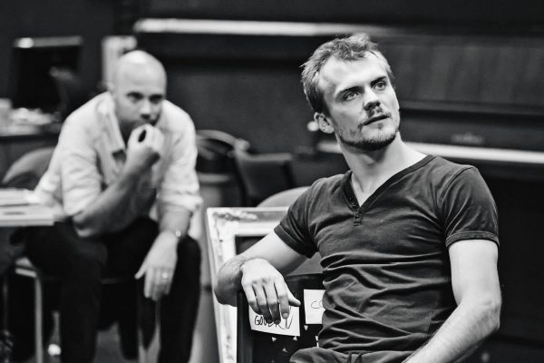 Christopher Birks rehearsing for 'The Man Who Would Be King'